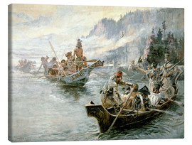 Canvas print  Lewis & Clark on the lower Columbia River, 1905 - Charles Marion Russell