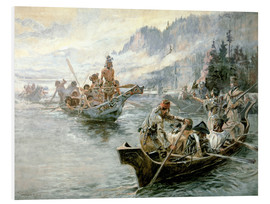 Foam board print  Lewis & Clark on the lower Columbia River, 1905 - Charles Marion Russell