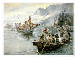 Premium poster Lewis & Clark on the lower Columbia River, 1905