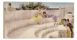 Wood print  Under the Roof of Blue Ionian Weather - Lawrence Alma-Tadema