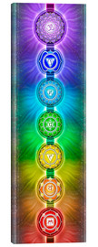 Canvas print  The Seven Chakras - Series II - Dirk Czarnota