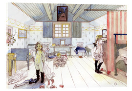 Acrylic print  Mamma's and the Small Girl's Room - Carl Larsson