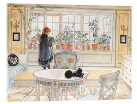 Acrylic print  Flowers on the windowsill - Carl Larsson