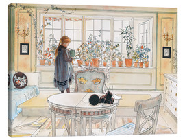 Canvas print  Flowers on the windowsill - Carl Larsson
