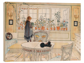 Wood  Flowers on the windowsill - Carl Larsson