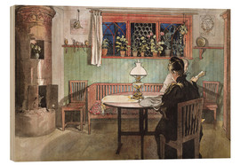 Wood print  When the Children have Gone to Bed - Carl Larsson