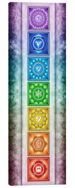 Canvas print  The Seven Chakras - Series II -Artwork II - Dirk Czarnota