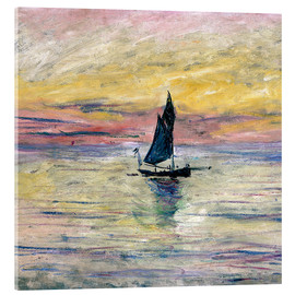 Acrylic print  Sailboat evening - Claude Monet