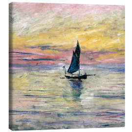 Canvas  Sailboat evening - Claude Monet