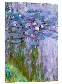 Foam board print  Waterlilies - Claude Monet