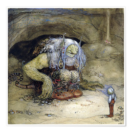 Premium poster  The Troll and the Boy - John Bauer