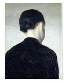 Premium poster Seated Figure, Seen from Behind (Anna Hammershøi)