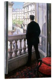 Acrylic glass  Man at the Window - Gustave Caillebotte