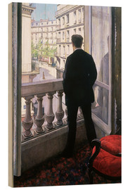 Wood print  Man at the Window - Gustave Caillebotte