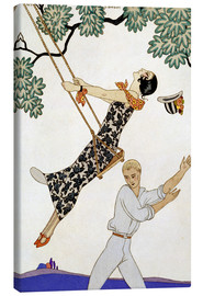 Canvas  The Swing, 1920s - Georges Barbier