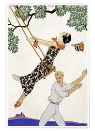 Premium poster  The Swing, 1920s - Georges Barbier