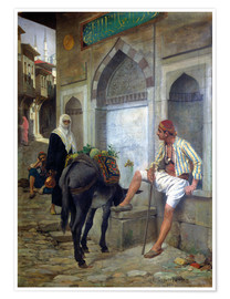 Premium poster A street in Istanbul, 1883