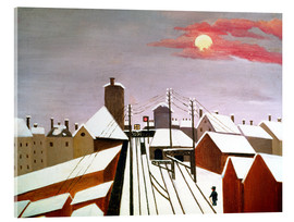 Acrylic print  The railroad - Henri Rousseau