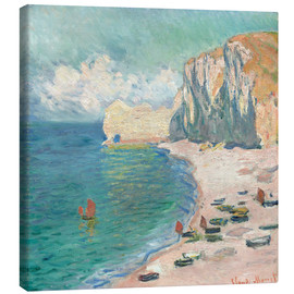 Canvas print  Cliff at Etretat - Claude Monet