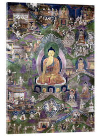 Acrylic print  Thangka of the Buddha - Tibetan School