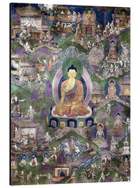 Aluminium print  Thangka of the Buddha - Tibetan School