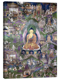 Canvas  Thangka of the Buddha - Tibetan School