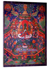 Acrylic print  Thangka depicting Green Tara - Tibetan School