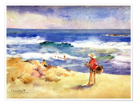 Premium poster  Boy on the Sand - Joaquín Sorolla y Bastida