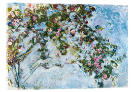Acrylic print  The roses - Claude Monet
