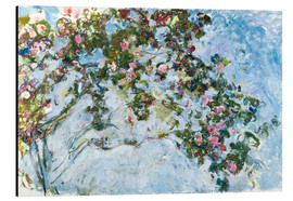 Aluminium print  The roses - Claude Monet