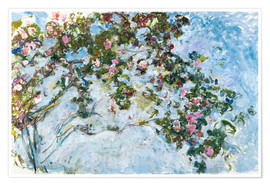 Premium poster  The roses - Claude Monet