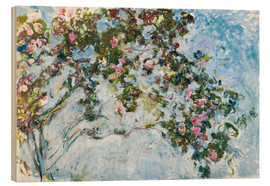 Wood print  The roses - Claude Monet