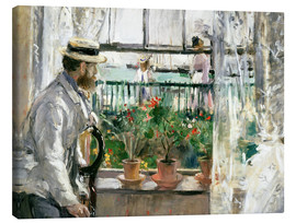 Canvas print  Manet on the Isle of Wight - Berthe Morisot