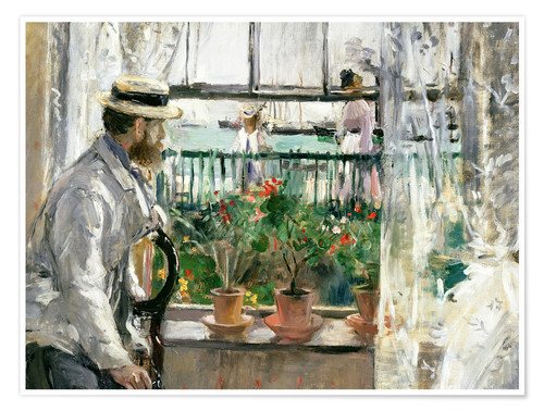 Premium poster Manet on the Isle of Wight