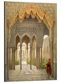 Aluminium print  The Court of the Lions, the Alhambra, Granada, 1853 - Léon Auguste Asselineau