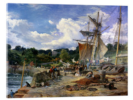 Acrylic print  At the pier, Aberdour, Firth of Forth, 1865 - Samuel Bough