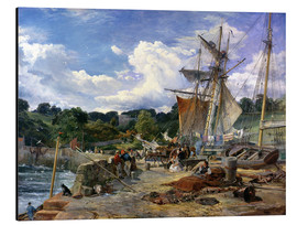 Aluminium print  At the pier, Aberdour, Firth of Forth, 1865 - Samuel Bough