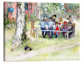 Canvas  Breakfast under the Big Birch - Carl Larsson