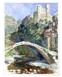 Premium poster  Castle of Dolceacqua - Claude Monet