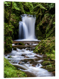 Acrylic print  Waterfall of Geroldsau, Black Forest - Andreas Wonisch
