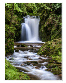 Premium poster  Waterfall of Geroldsau, Black Forest - Andreas Wonisch