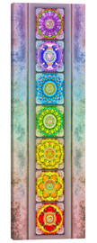 Canvas print  The Seven Chakras - Series III -Artwork II - Dirk Czarnota