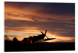 Acrylic print  Spitfire Rest Easy - airpowerart