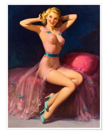 Premium poster  Pin Up in Pink - Art Frahm