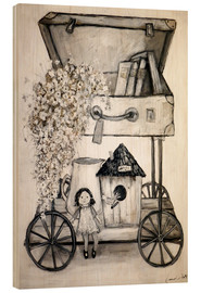 Wood print  Flower-Transport - Christin Lamade