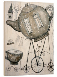 Wood print  Tea-Transport - Christin Lamade