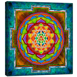 Canvas print  Intuition Sri Yantra - Artwork II - Dirk Czarnota