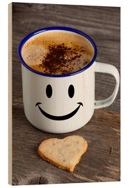 Wood print  Cup with smiley face - Thomas Klee