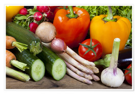Premium poster Healthy Vegetables