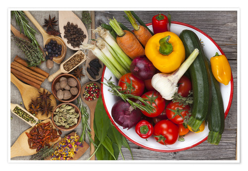 Premium poster Vegetables, Herbs and Spices III